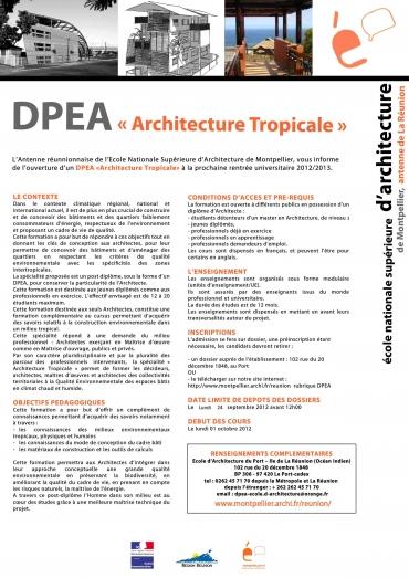 Lettre d'info DPEA
