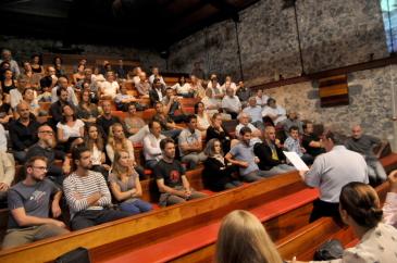 Environ 150 architectes ont assisté à la réunion annuelle organisée cette année dans l'ancienne usine de Pierrefonds.