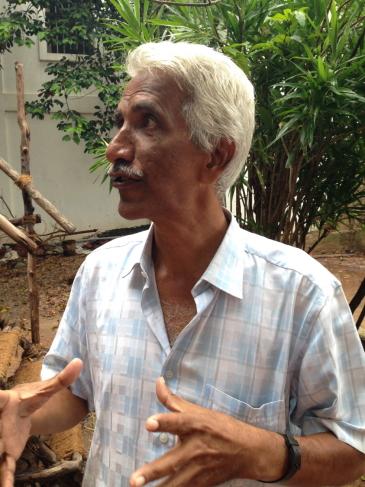 Ashok Panda milite depuis 15 ans avec sa fondation Intach pour sauver le patrimoine de Pondichéry.
