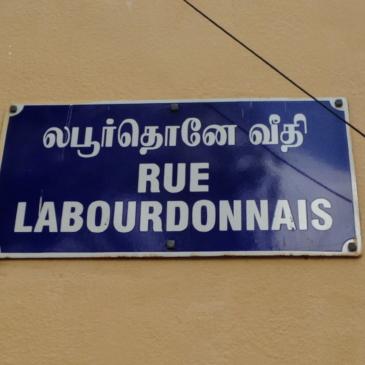 Les rues du vieux Pondichery portent encore leur nom français.