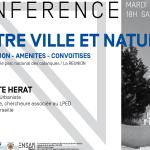"""Conférence """"Entre Ville etNature"""""""