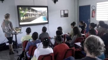 Le jury junior du PAR 2016 en pleine séance au collège Texeira da Motta à La Possession
