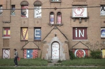 Detroit. Osborn neighborhood. Un quartier délaissé où l'assocation The Greening of Detroit met en place un centre d'éducation vert en plein air