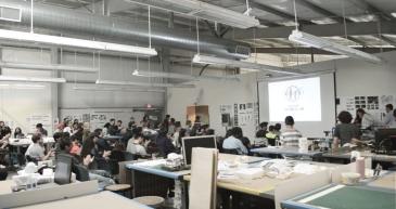 Los Angeles. Cal Poly Pomona, Department of Architecture. Présentation du workshop aux étudiants