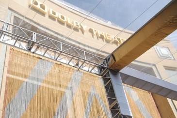 Los Angeles, Dolby Theatre, Lieu des Oscars, sous le rideau d'or, presque sur le tapis rouge