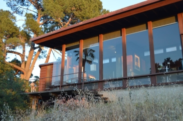 Los Angeles. Maison de Luis Hoyos, professeur à Cal Poly Pomona, réalisée par l'architecte John Lautner