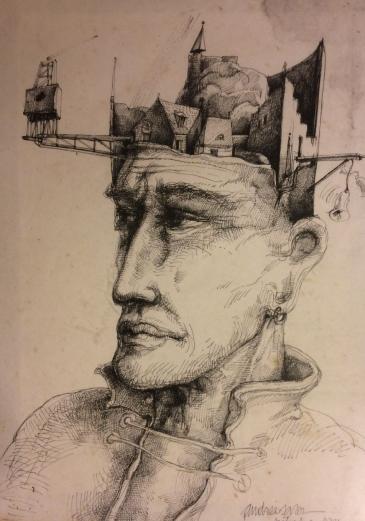 Un portrait réalisé par un collègue roumain de Rodolphe Cousin alors qu'il travaillait à Saint-Denis (93).