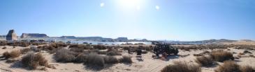Utah. Lake Powell. Réveil au camping