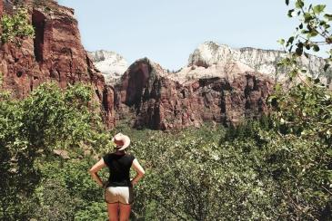 Utah. Zion National Park. Les paysages naturels, fierté américaine en terme de patrimoine