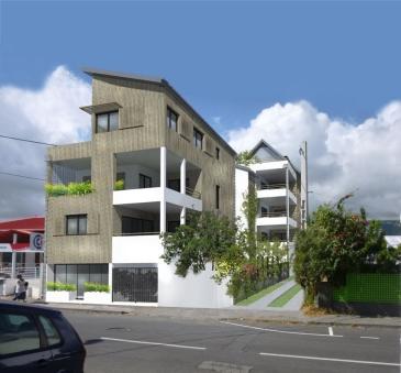 Une perspective du projet NouT en centre-ville de Saint-Pau